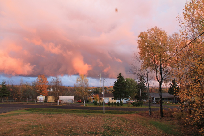 Sunset over Colpitts Settlement Moncton, New Brunswick Canada