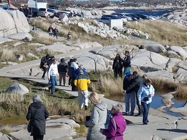 Busy Day in Peggy's Cove NS Peggy's Cove, Nova Scotia Canada