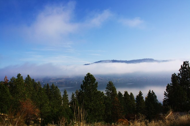 Foggy Fall Afternoon Vernon, British Columbia Canada