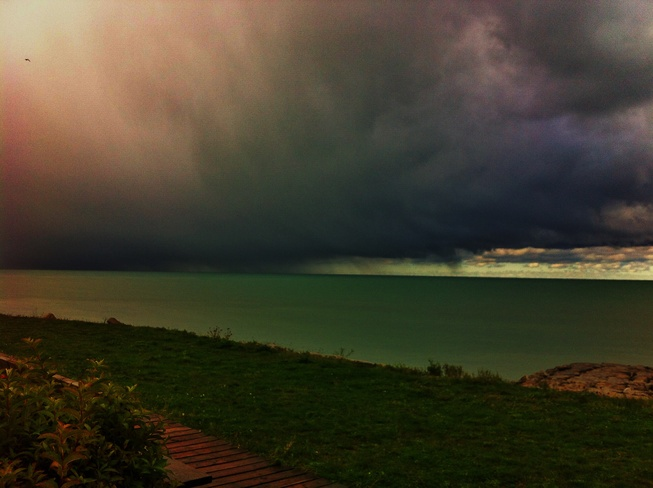 Storm Clouds Over Lake Huron Goderich, Ontario Canada