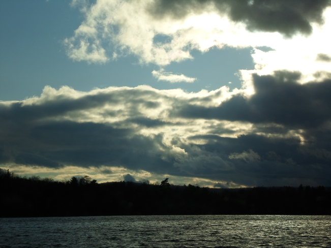 Storm clouds over Lake Elliot Elliot Lake, Ontario Canada