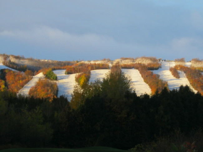 First Snowfall at Blue Mtn - Oct. 24th! Blue Mountain, Ontario Canada