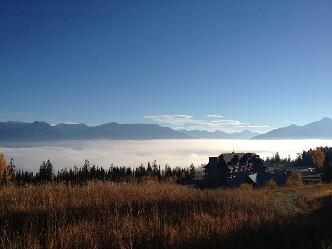 Above the fog at the ski hill Golden, British Columbia Canada