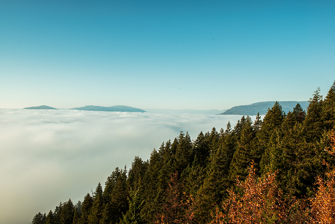 Inversion in Sicamous Sicamous, British Columbia Canada