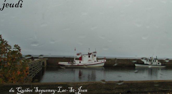 Journée sous la pluie Chambord, Québec Canada