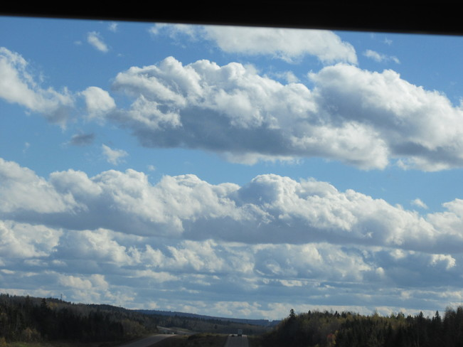 Heavy Cumulus clouds over Moncton Moncton, New Brunswick Canada