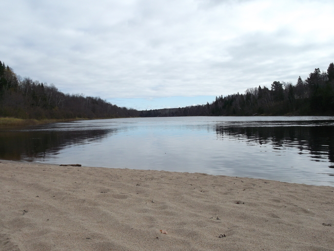 Cold Sandy Beach/ no swimming Massey, Ontario Canada