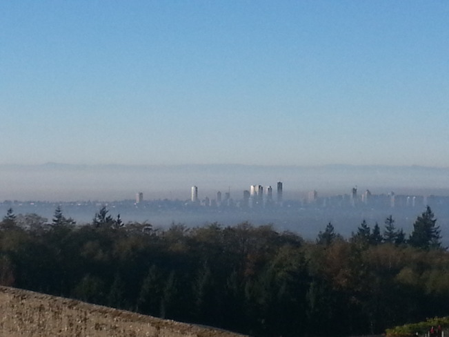 foggy vancouver Burnaby, British Columbia Canada