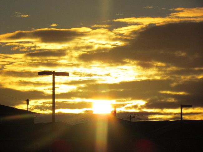 An amazing sunset Mount Pearl, Newfoundland and Labrador Canada