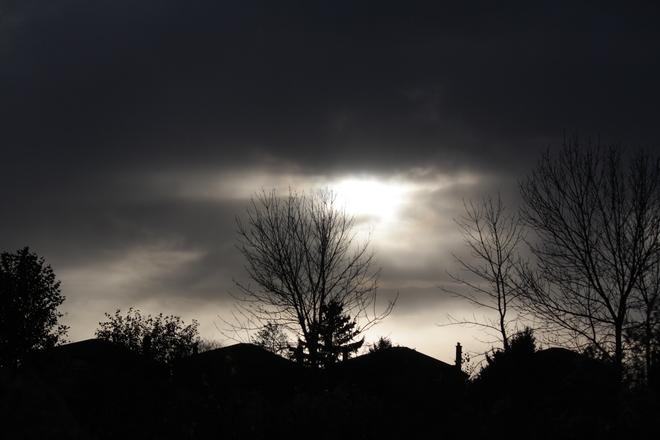 october sky Scarborough, Ontario Canada