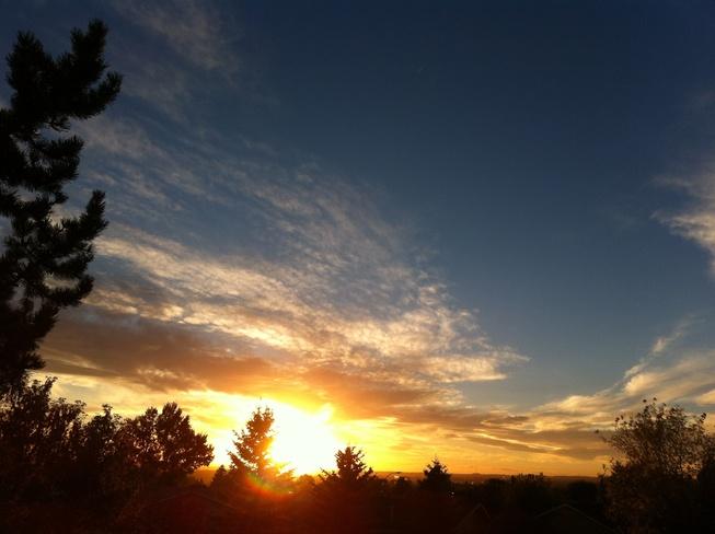 beautiful sunset Ponoka, Alberta Canada