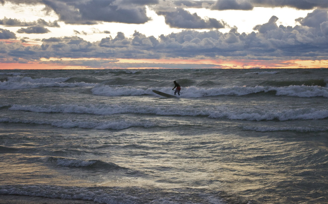 Braving the Waves Kincardine, Ontario Canada