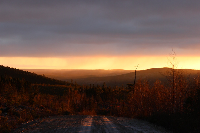 mountains in the am Bathurst, New Brunswick Canada