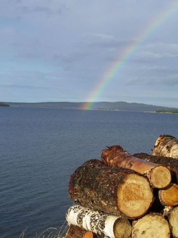 October Rainbow Birchy Bay, Newfoundland and Labrador Canada