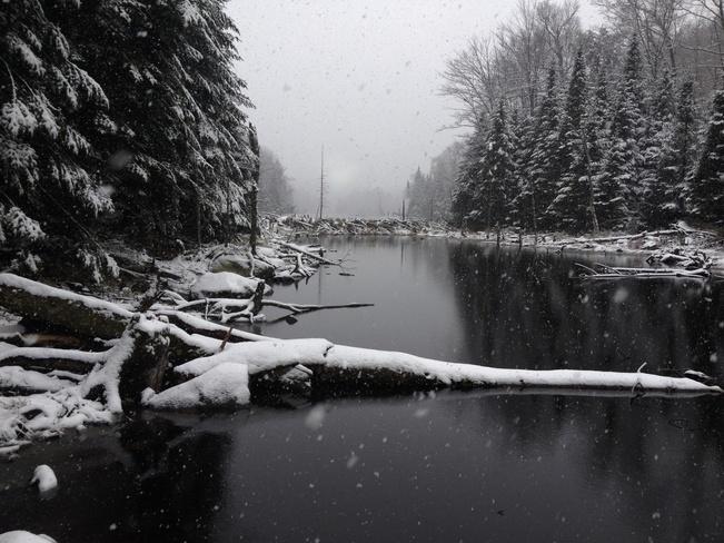 Seasons first snow fall Québec, Quebec Canada
