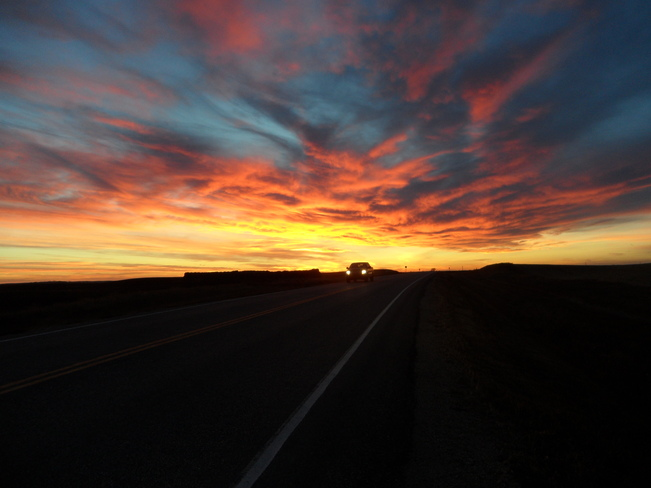 Spectacular sunset Assiniboia, Saskatchewan Canada