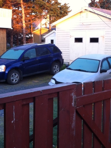 Frost on cars and patio Carbonear, Newfoundland and Labrador Canada