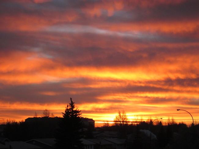 Sun Clouds Kindersley, Saskatchewan Canada