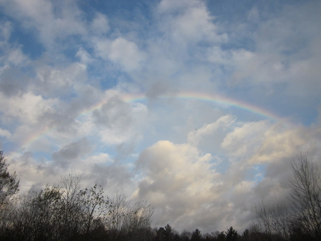 Rainbow Among Storm Clouds Pembroke, Ontario Canada