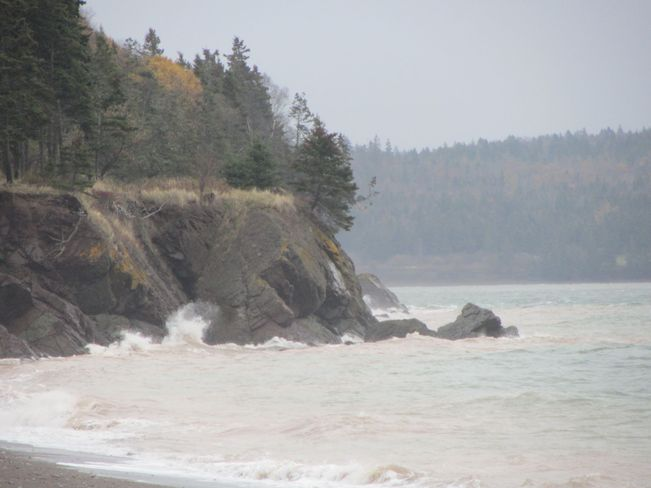 Lot's Of wind and Waves! Yarmouth, Nova Scotia Canada