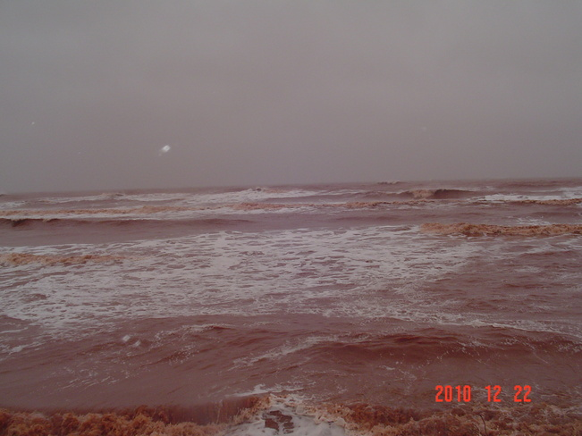 rough water O'Leary, Prince Edward Island Canada