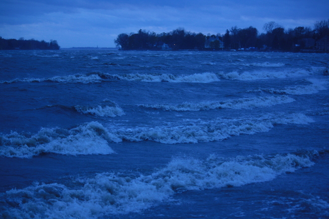 Waves on the St. Lawrence Lachine, Quebec Canada