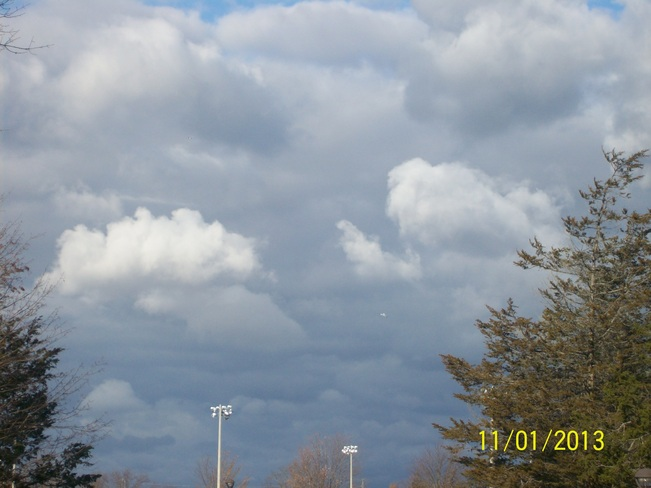 Omnious Clouds from Yesterday's High winds Belleville, Ontario Canada