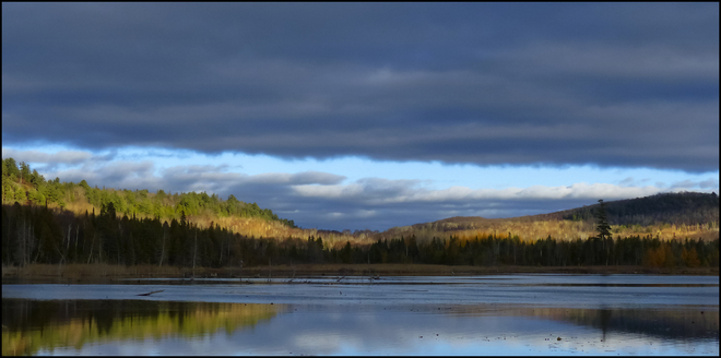 Sherriff Creek late afternoon light. Elliot Lake, Ontario Canada