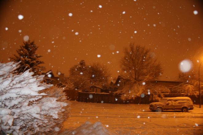 snow Red Deer, Alberta Canada