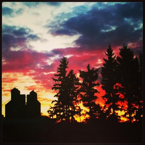 morning sunrise Duck Lake, Saskatchewan Canada