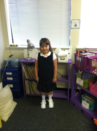 Emily Mae Jenkin's first day of kindergarten