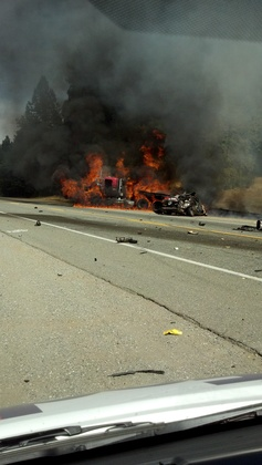 Community - Accident and fire Highway 20 Grass Valley