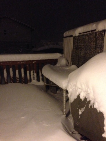 23 cm snow Blackfalds, Alberta Canada