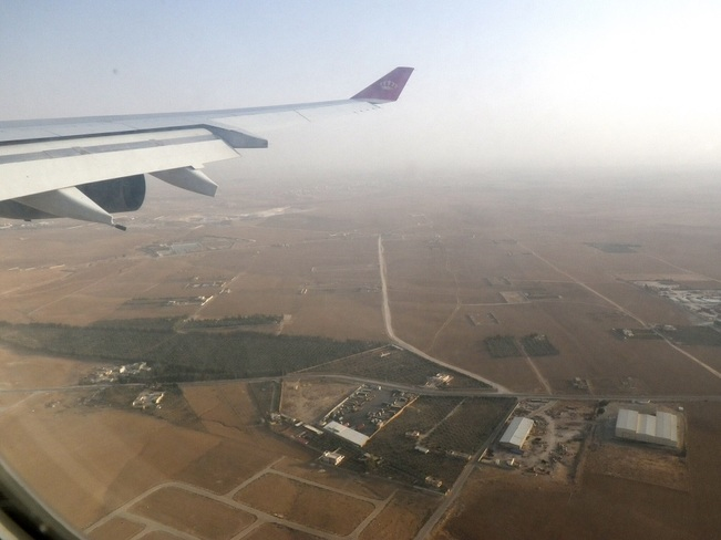 landing at Amman International Airport Amman, Jordan