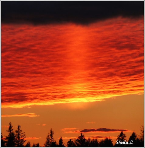 Cool Nov. Sunset Canning, Nova Scotia Canada