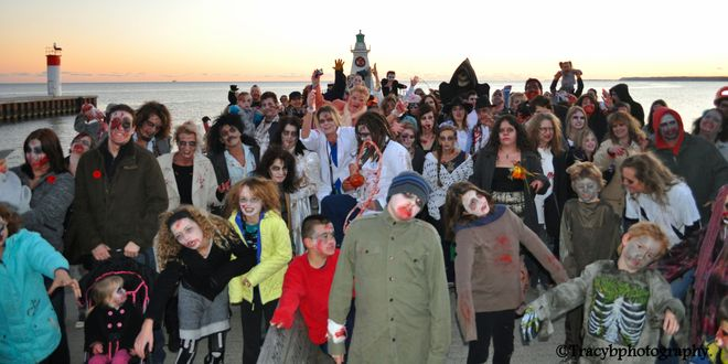 Zombies taking over Port dover Port Dover, Ontario Canada