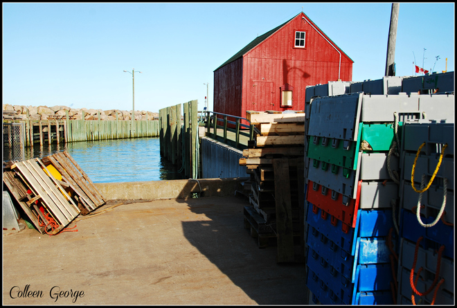 Signs of a Working Harbour Canning, Nova Scotia Canada