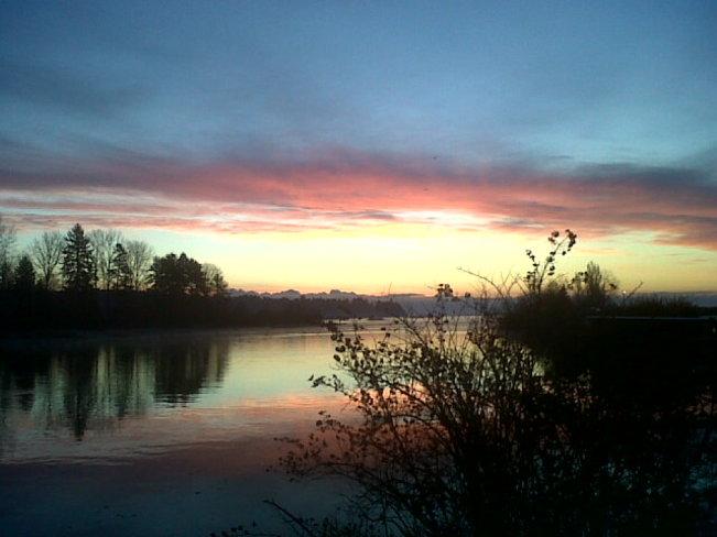 Courtenay Sunrise. Courtenay, British Columbia Canada