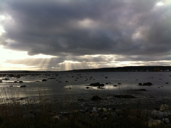 Sun Rays Peeking Through Gander, Newfoundland and Labrador Canada