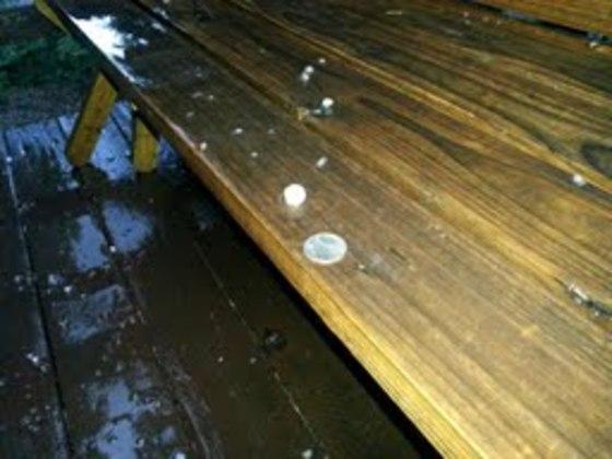 Quarter size Hail in Dorrington
