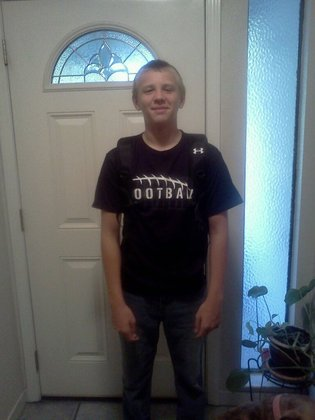 Adam's first day of 8th grade.