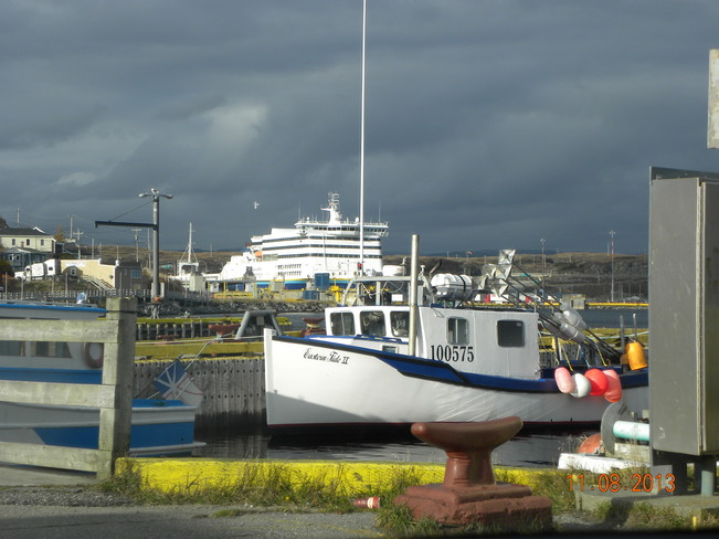 Boats and the Newfoundland Ferry Channel-Port aux Basques, Newfoundland and Labrador Canada