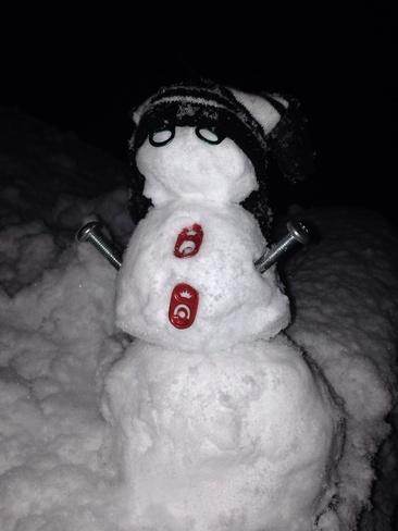 snowmen Havre Boucher, Nova Scotia Canada