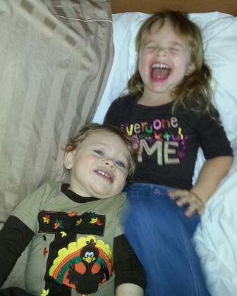 Kids happy on Thanksgiving