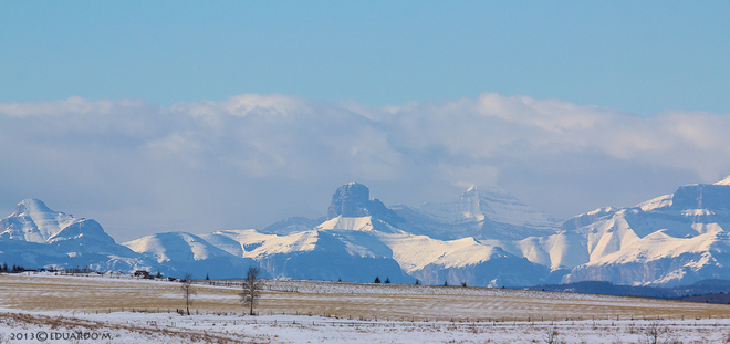 Mount Yamnuska (as seen west of Cochrane) Cochrane, Alberta Canada