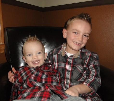 Our 2 Turkeys:) Austin and Liam Happy Turkey Day ! 2012