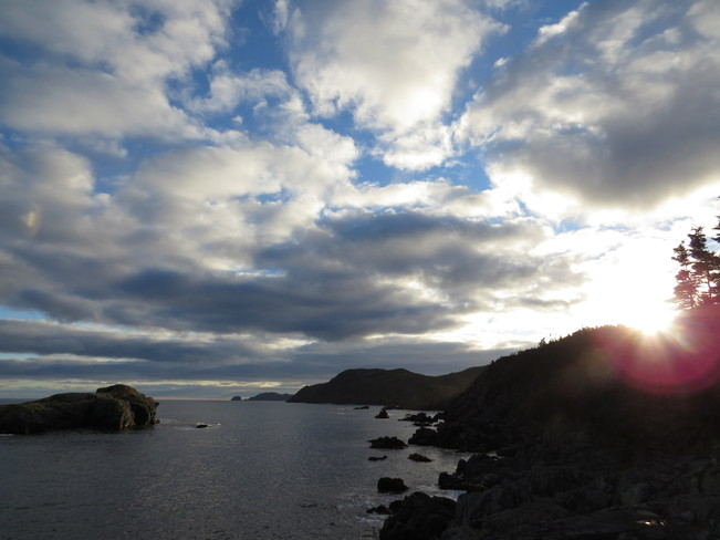 sun going down Rock Harbour, Newfoundland and Labrador Canada