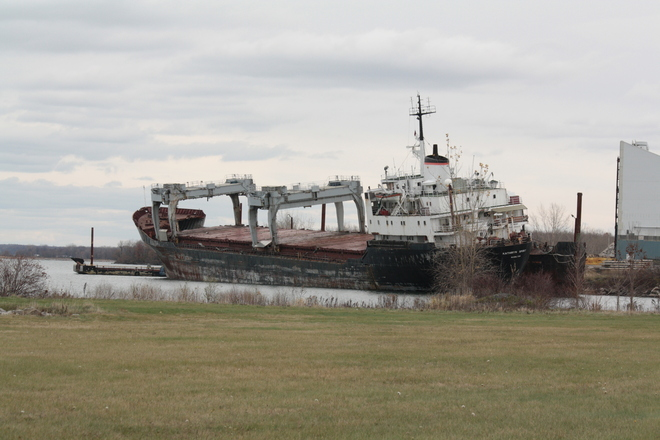 Grounded Beauharnois, Quebec Canada
