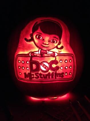 Doc McStuffins pumpkin carving by Brett Bode