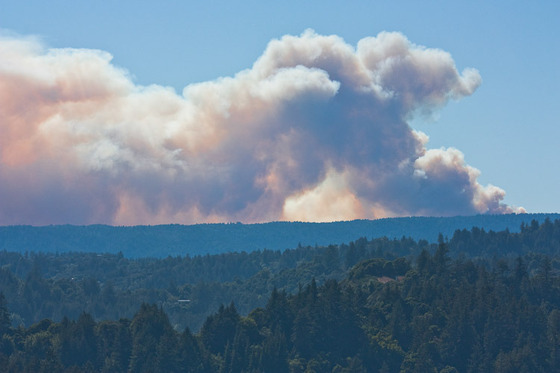 Lockheed Fire from Soquel Hills